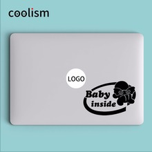 """Baby Inside"" Humor Laptop Decal Sticker for Macbook Decal Air 13 Pro Retina 11 12 15 inch HP Mi Mac Book Skin Notebook Sticker"
