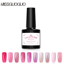 MISSGUOGUO 10ml Pink Colors UV Gel Nail Polish Long Lasting Gel Polish Nail Art Gel Varnish Gelpolish Nail Art(China)