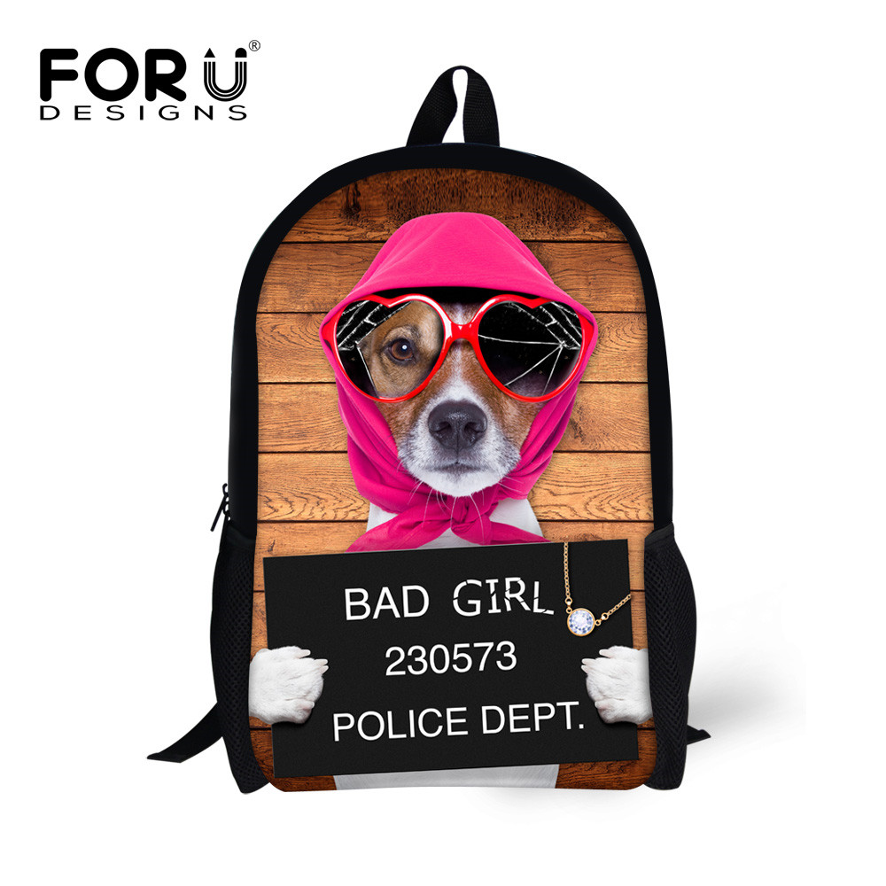 FORUDESIGNS Funny Daily School Bad Dogs Animal Bags for Students Escolar Mochila Satchel Cool Pugs Evil Design Schoolbags Kids<br><br>Aliexpress