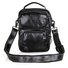 JMD Black Natural Cow Leather Men's Messenger Bag Casual Sling Bag for Women Shoulder Bag 1010A(China)