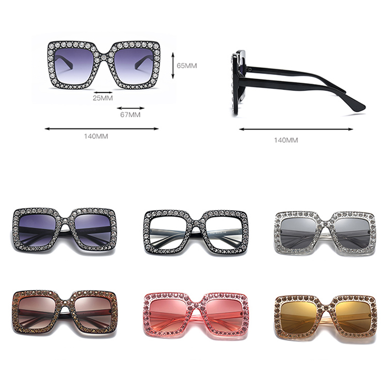 rhinestone sun glasses for women luxury brand 7080 details (2)