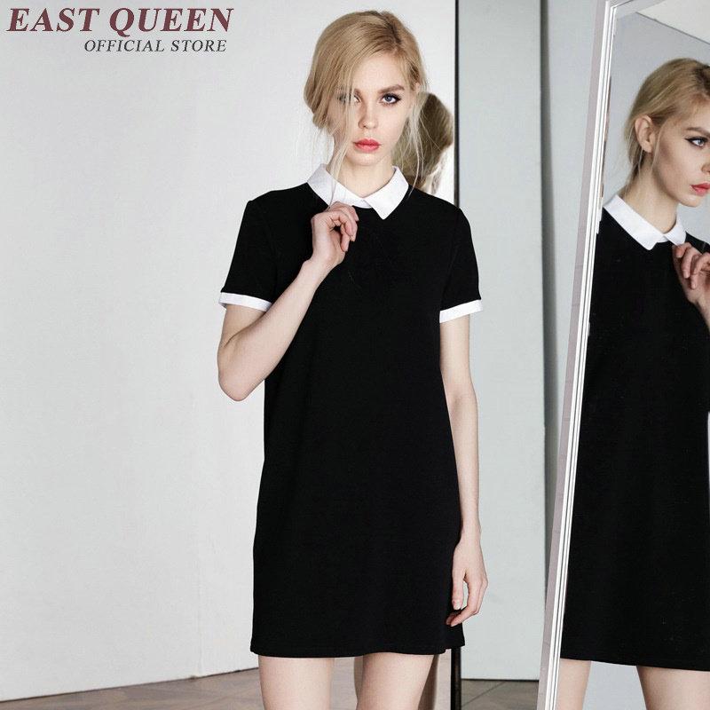 Черно Белое Платье С Воротником Доставка