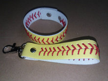 2017 baseball keychain,fastpitch softball accessories baseball seam keychains Key chains softball Key chains wholesale(China)