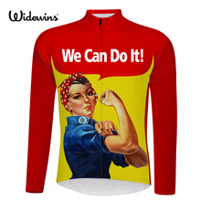 NEW Women cycling jersey long sleeve summer can do cycling jersey long sleeve cycling clothing cartoon bike 3 style cycling 6509