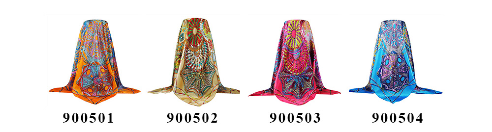 Square Silk Scarf (9)
