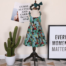2017 Summer New toddler dresses Bohemian girls sun dress print Beach kids girl clothing vestido infantil ruched dress for 2-7age