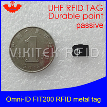 UHF RFID anti-metal tag omni-ID fit200 fit 200 915mhz 868mhz Alien Higgs3 EPCC1G2 6C durable paint smart card passive RFID tags(China)