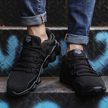 2018 High Quality Men Casual Shoes spring Fashion brand soft breathable sneakers Lace-up tide male shoes plus size 39-46(China)