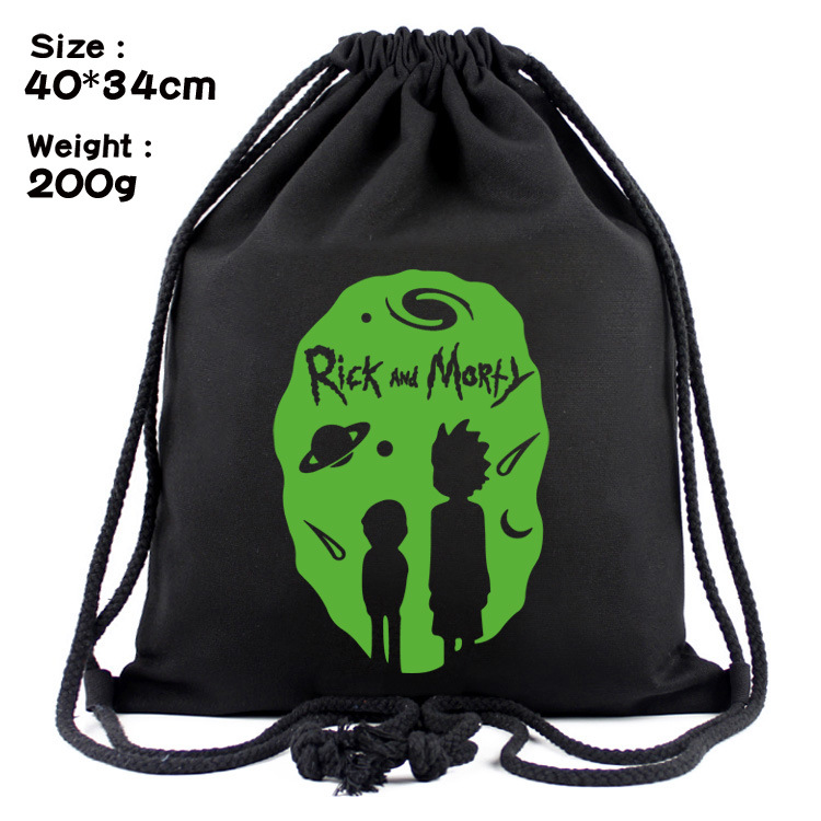 2020 Rick And Morty's Back Green Backpack