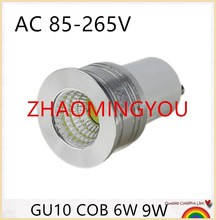 10PCS LED Spotlight MR16 GU5.3 110V 220V 12V COB LED LAMP BULB Dimmable GU10 led spotlight 6W 9W Ultra Bright GU10 Bulbs(China)