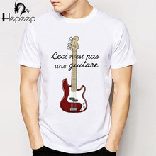 Track Ship + New Vintage Retro Rock&Roll Punk T-shirt Top Tee Ceci n est pas une guitare ver print boy t shirt