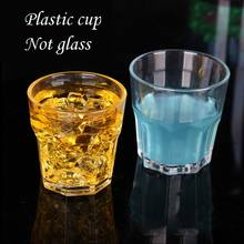 PC plastic cups Western restaurant transparent cup Hotel beer mug Household durable cup