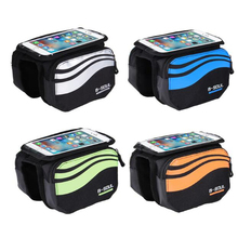 Buy Cycling Bicycle Front Phone Bag MTB Road Bike Cycling Touch Screen Mobile Bag 5.7 inch Cellphone Bag Bicycle Accessories for $8.12 in AliExpress store