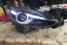 for Mazda 3 Axela Projector Headlights V2 type Compatiable for the Halo headlights to upgrade to HID xenon type headlights LD(China)