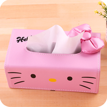 Hello kitty tissue box creative fashion cute cartoon leather box Home Furnishing napkin box