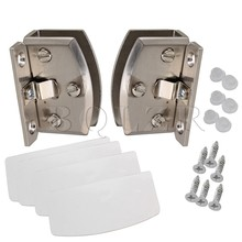 BQLZR Glass Door Clamp Hinge Side Mount 90 Degree DIY Materials A Pair