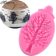 DIY Cake Border Silicone Molds Tree Cupcake Fondant Cake Decorating Tools Chocolate Gumpaste Moulds XL340