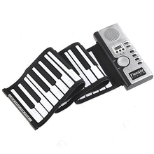 New Portable Roll-Up Flexible Full 61 Soft Responsive Keys Synthesizer Electronic Piano Keyboard Built-in Speaker For kid Sept