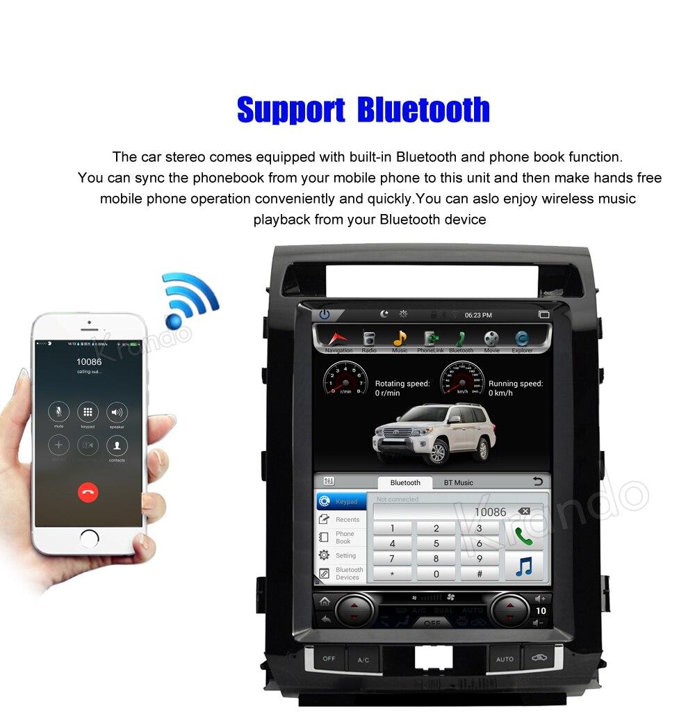 Krando tesla vertical screen land cruiser 2008-2015 Android car radio gps navigation multimedia system (4)