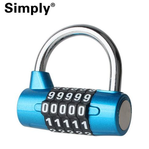 Excellent Quality !! 5 Dial Digit Number Combination Travel Security Code Password Lock Padlock English Letter Combination Lock<br><br>Aliexpress