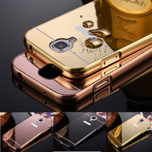 Phone Case For Samsung Galaxy S4 I9500 Bling Metal Aluminum Frame Bumper Mirror Surface Back Cover Cases For Galaxy S4