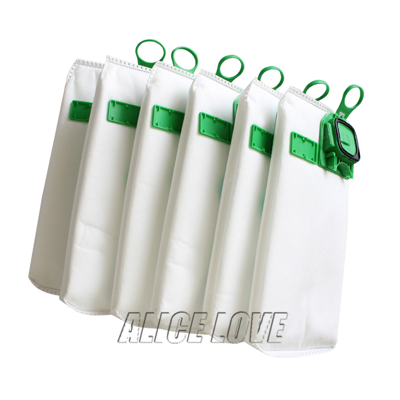 6pcs high efficiency dust filter bag replacement for VK140 VK150 Vorwerk garbage bags FP140 Bo rate kobold Vacuum cleaner(China)