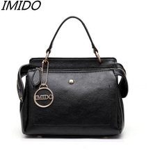 Genuine Leather Female Bag 2017 New Fashion Brand Handbags Head Layer Cowhide Ms Brand Name Rivets Single Shoulder Bag Designer(China)