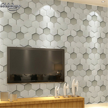 beibehang Modern simple three - dimensional hexagonal PVC waterproof personality bar Internet cafes TV background wallpaper