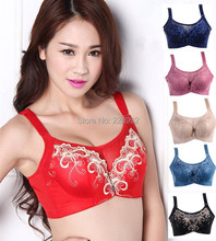 Women Plus Size Safety underwear Thin Push Up 36/80-44/100C Embroidery Tube Bras 6Colors Wholesales Free Shipping