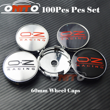 Wholesale Free Shipping 100pcs Car Wheel Hub Emblem Cover Auto Wheel Center Logo Cap O.Z Badge(China)