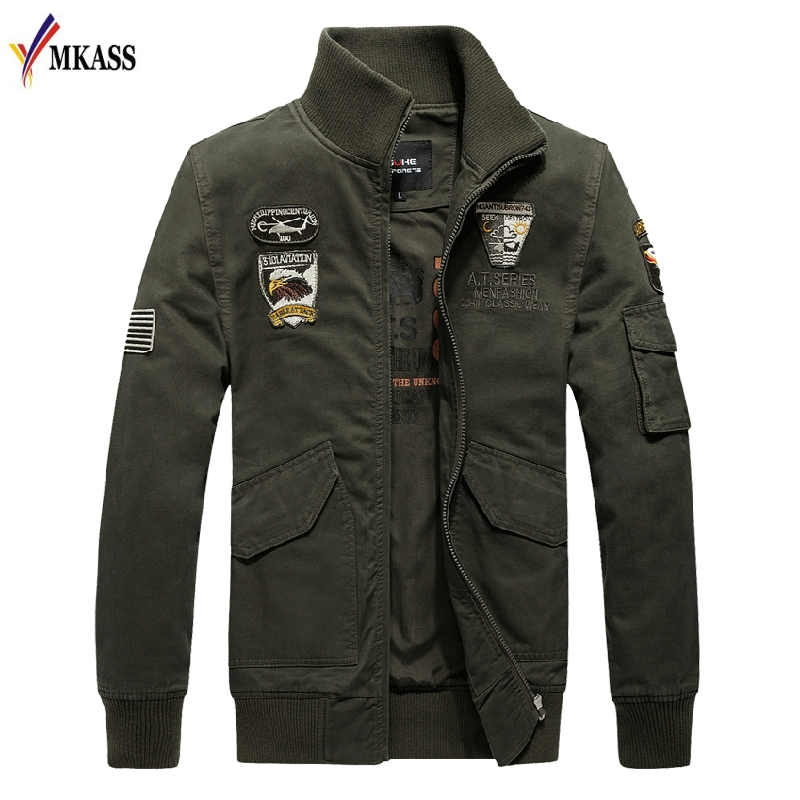 Brand MKASS 2018 Men Spring Jackets and Coats Jaqueta Masculina Male Causal Fashion Slim Fitted Large Size Zipper Jackets Hombre