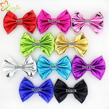 10pcs/lot Newborn Baby Girl 5'' Shimmery Metallic Bow Without Clip Chic DIY Hair Accesories For Kids Women Headwear New Arrival