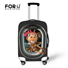 FORUDESIGNS New Arrival Elastic Dust Cover For Travel Case Animals Printing Style Luggage Protective Covers For 18-28 Suitcase