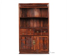 Study Furniture Living Room Bookcase office shelf Solid Wood Rosewood Chinese Antique bookrack can be Customized free shipping