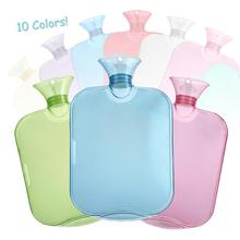 1Pc Transparent Winter Warmer PVC Hot Water Bottle Hand Thick High-Density Home Heating Props L40(China)