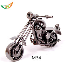 Metal  battery car harley motorcycle 1:12 wrought iron motorcycle models miniature motorcycle for boyfriend christmas gift