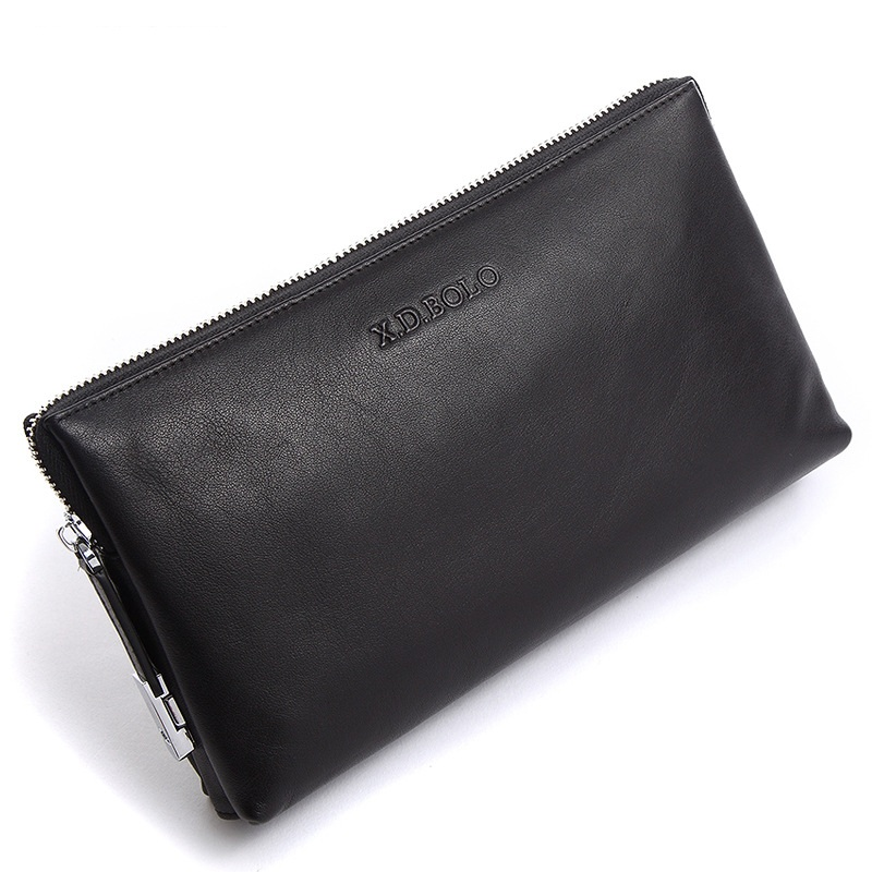 2018 New Men Wallets Genuine Leather Coin Zipper Wallet Male Clutch Bags Man Purse Hand Bag Card Holder Money Bag Drop Shipping<br>