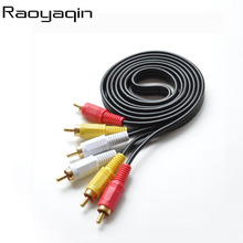 Raoyaqin 3 RCA Male to 3 RCA Male Composite Audio Video AV Cable Plug 3X RCA Retail & Wholesale 10M 15M 20M Yellow/Red/White(China)