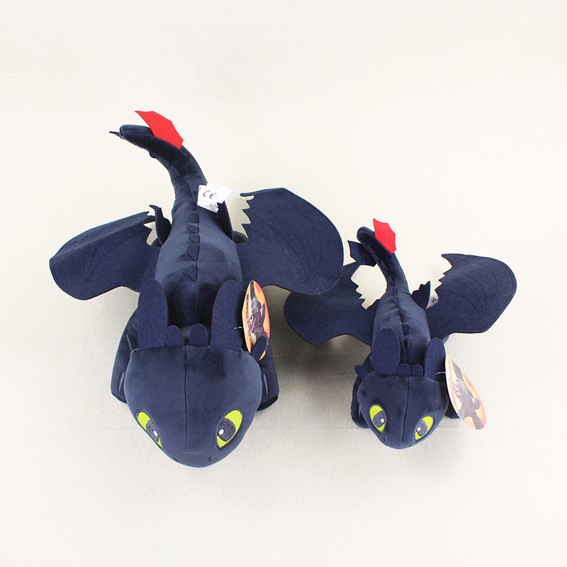 24/36cm How to Train Your Dragon Toothless Night Fury Plush Doll Soft Stuffed Toy Doll(China)