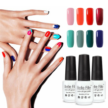 Belle Fille UV Gel Nail Polish Nail Art Varnish Soak-off Gelpolish Vernis Semi Permanent Summer Colors Lacquer Fingernail Polish(China)