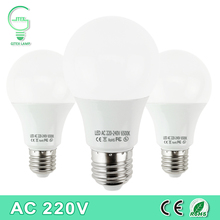 Real Power LED Bulb E27 LED Lampada Ampoule Bombilla 3W 5W 7W 9W 12W 15W 18W LED Lamp 220V Cold/Warm White Led Spotlight