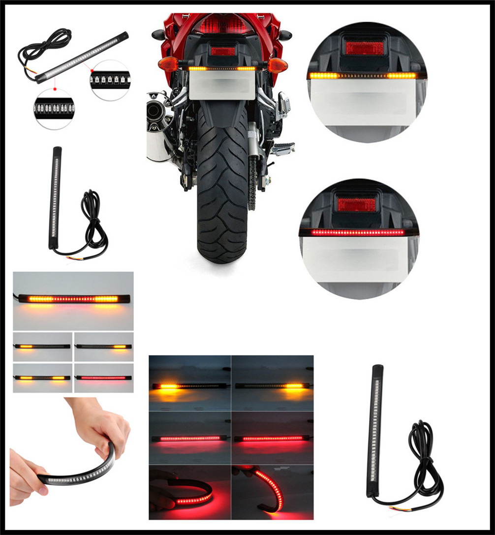 Motorcycle LED waterproof light strip steering warning with casing for Kawasaki VERSYS 650cc ZG1000 CONCOURS ZRX1100 1200 ZX1100