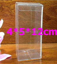 Joy size 4*5*12cm Transparent Favor  PVC box , Plastic macaroon clear pvc gift packing box