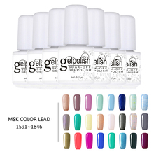 mini 7ml Gelpolish 236 Color UV LED Soak-off Gel Nail Polish Nail Art Varnish 1591~1846(China)