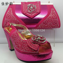 New Design Italian Shoe with Matching Bag Fashion Lattice Pattern Italy Shoe and Bag To Match African Women Shoes for Parties(China)