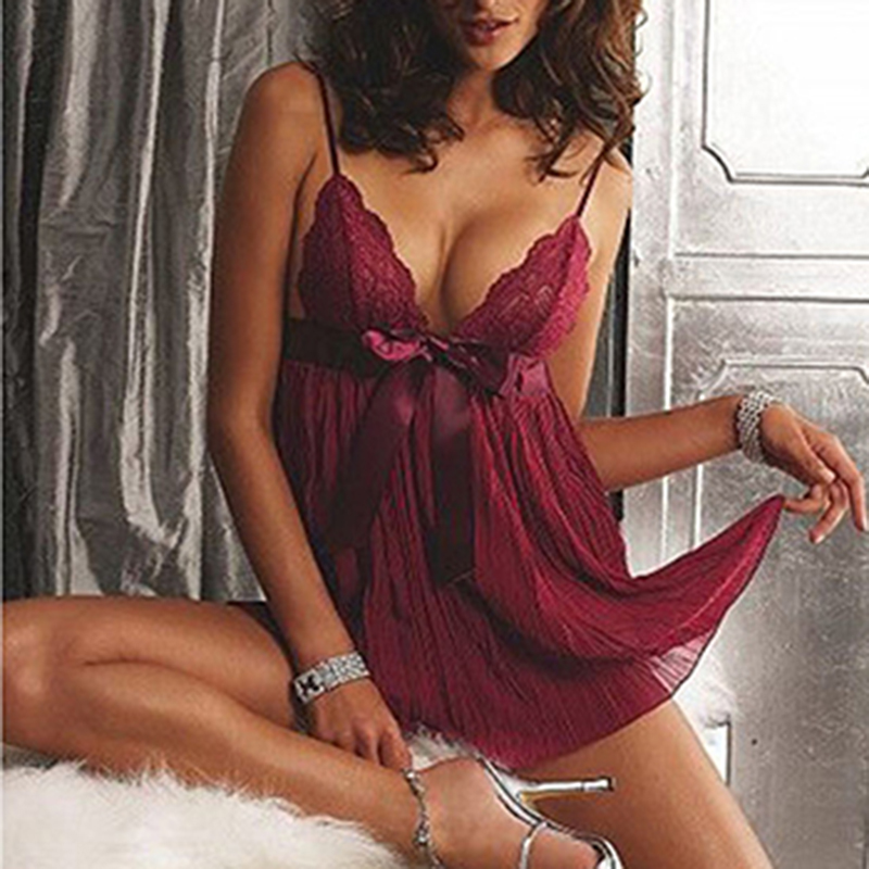 Sexy Underwear Hot Babydoll Lace Lingerie Dress Erotic Sexi Lenceria Woman Porn Costumes Teddy Chemise Nightwear Sex Clothes
