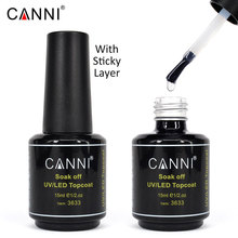 #3633 Professional nail art canni 15ml long time shinning soak off gel nail polish top coat(China)
