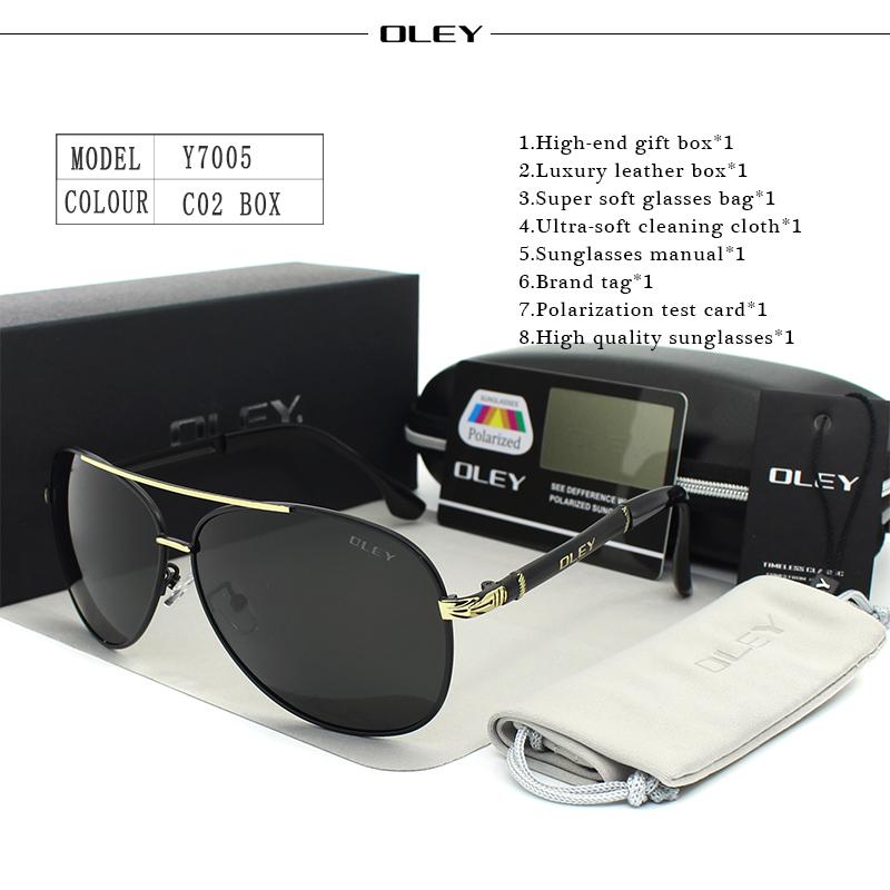 OLEY Luxury sunglasses men polarized Classic pilot Sun glasses fishing Accessories driving goggles gafas de sol zonnebril mannen 8