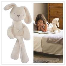 Cute Rabbit Baby Soft Plush Toys Brinquedos Millie & Boris Smooth Obedient Sleep Doll 50CM White Best Gift for Kids(China)