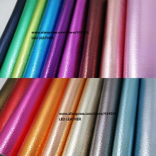 Pearlized Synthetic Leather Fabric with Embossed Litchi Grain Faux Leather Pu Leather Material for DIY Fabric Furniture P181